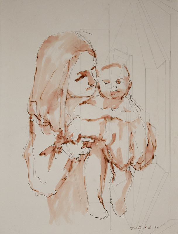 udinotti museum of figurative art, agnese udinotti, new acquisitions, tiepolo, italian renaissance painting, ink drawing, fluidity in drawing, architecture and the human form, madonna and child drawings, elizabeth anne badillo, noe badillo drawing