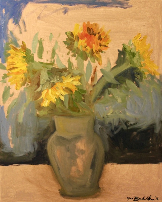 sunflowers van gogh, floral painting, vincent sunflowers, painterly painting, joan mitchell, sunlight in painting
