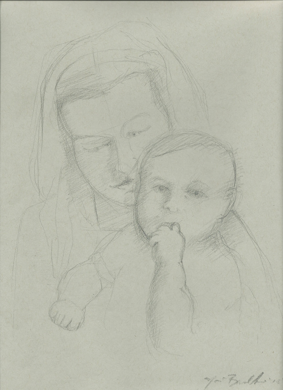 women and children, subtle charcoal drawing, leonardo da vinci drawing