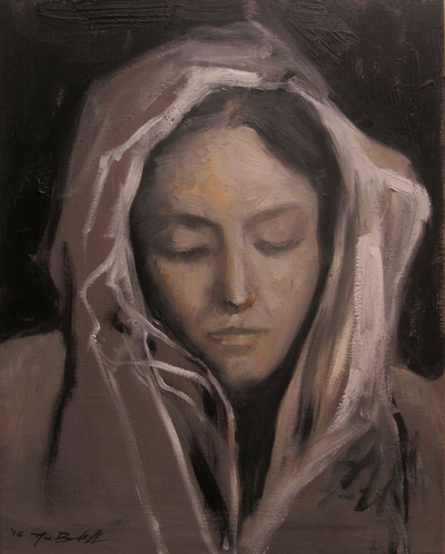 Elizabeth Anne Badillo, Noe Badillo artist, modern masters, contemporary portraiture, painterly expressionism, madonna paintings renaissance, virgin mary, religious art