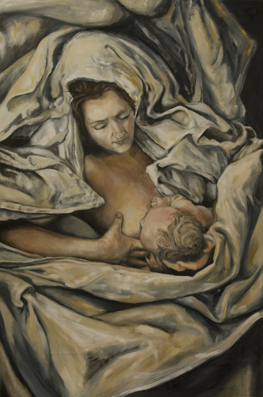 gustave courbet, french realism, mother and child, images of poverty, fabric study in painting, elizabeth anne badillo, anatomy in painting, tonalism in painting